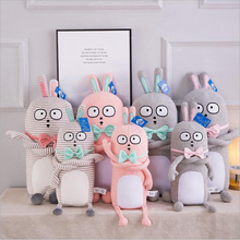 New Lovely Gentleman Rabbit Plush Toys Stuffed Bow Tie Doll Pillow Children Gift Baby