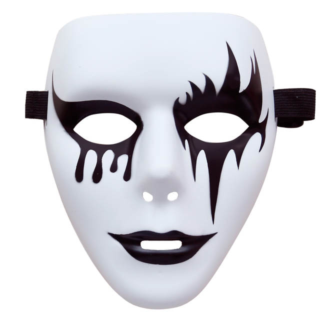 1pcs / Hand-painted hip-hop mask JabbaWockeeZ mask dance wedding decoration  props Halloween Christmas party mask Free Shipping