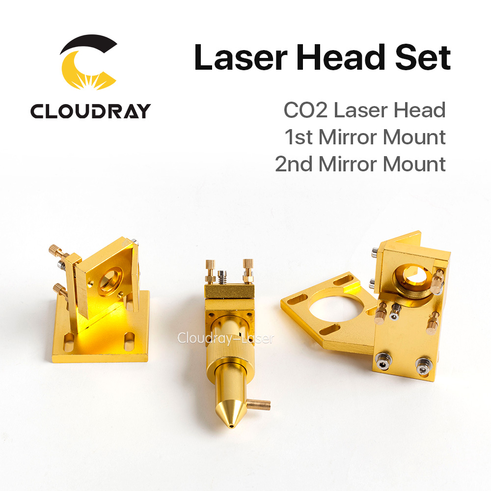 Cloudray CO2 Laser Head Set for 2030 4060 K40 Laser Engraving Cutting Machine robotec mini small card small business laser engraving cutting machine cnc co2 6040 4060