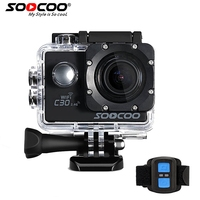 SOOCOO C30R Sports Camera Wifi 4K Gyro Adjustable Viewing Angles 70 170 Degrees NTK96660 With Remote