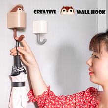 Kawaii Squirrel Wall Hook For Kid Room Creative Cute Home Decoration Kitchen Bathroom Accessories