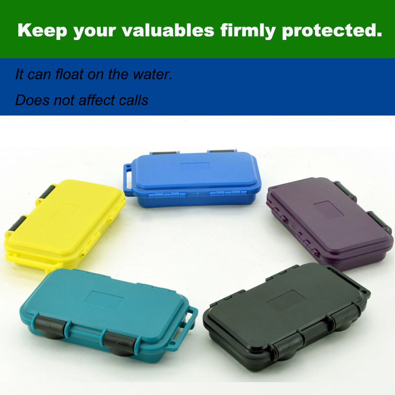Waterproof box phone case Shockproof Survival outdoor Case Storage Carry Box  spare part box with foam lining free shipping