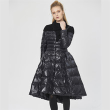 Creative dress down jacket female long section 2017 Winter warm coat parke Women Down Coat Jacket Medium Length Woman Down Parka