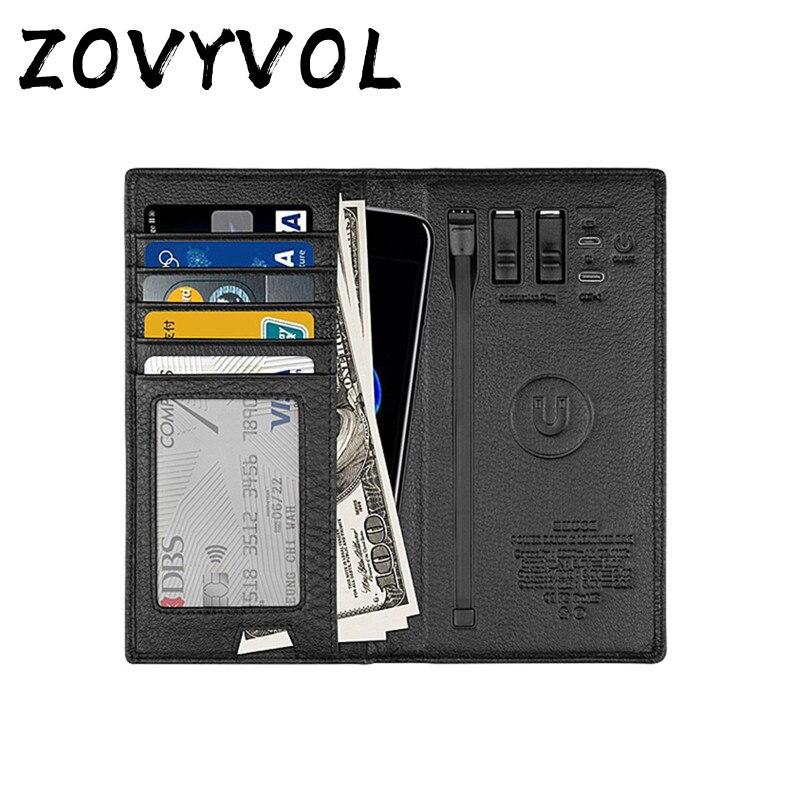 ZOVYVOL 2019 unisexe magique portefeuille téléphone avec USB pour Long portefeuille de charge adapter pour Ipone et Android capacité 8000 mAh voyage