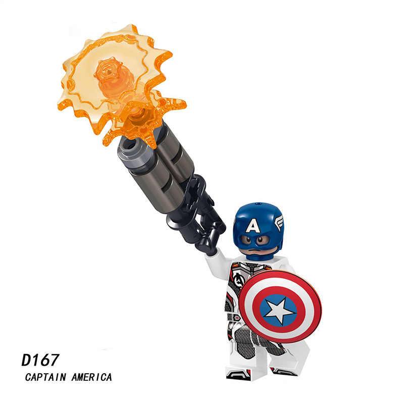 Танос Марвел Капитан Мстители 4 эндигра блок Железный человек Халк, Человек-паук Капитан Америка строительные блочные Фигурки игрушки для детей