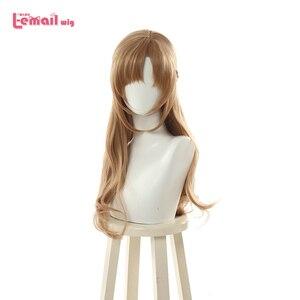 Image 1 - L mail peruka dwoma strzałami mama Mamako Oosuki peruka do cosplay długie brązowe peruka do cosplay s warkocz peruki włosy odporne na ciepło peruka syntetyczna perucas