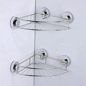 Stainless Steel Bathroom Shelves Vacuum Suction Cup Kitchen Bathroom Shelf Storage Toilet Wall Bracket Bathroom Accessories Полка