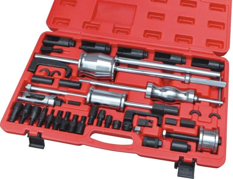 Winmax 40 Pc extracteur d'injecteur Diesel avec adaptateur de Rail commun ensemble d'outils de marteau de glissière