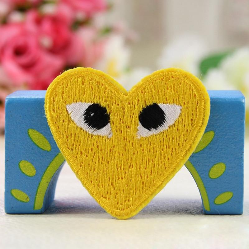Sk 50pcs Lot Diy Heart Shape Patches Comme Des Garcons Patch Cartoon Heart Embroidered Iron On Clothes Appliques Random Color Clothes Iron Clothes Iron Storageclothes Room Aliexpress