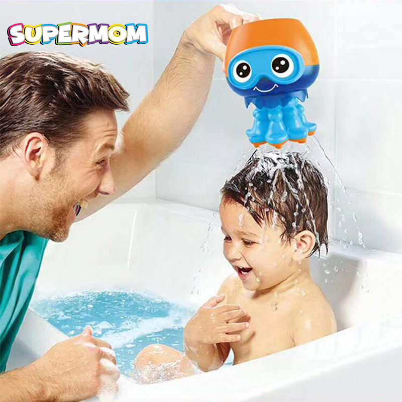 Baby Bathroom Bath Toys Cute Cartoon Octopus Play Water Game Safety Material Shower Educational Toys For Children