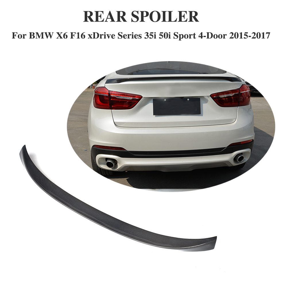 Carbon Fiber Rear trunk Spoiler Wing  fit for BMW X6 F16 2015 2016 2017 Car Styling