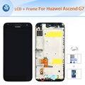 Для Huawei Ascend G7 оригинальный ЖК с рамкой полный ассамблеи ЖК-дисплей стекло сенсорного экрана планшета + Рамка + Инструменты черный белый 5.5