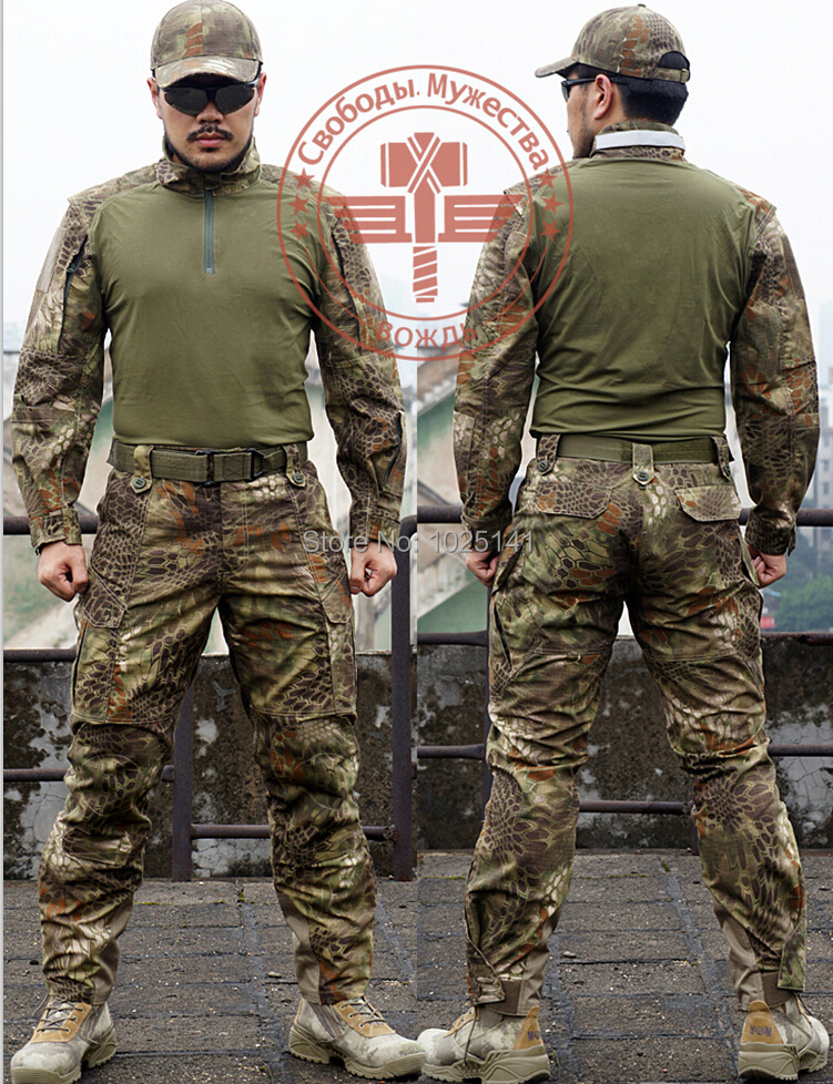 Chief Rattlesnake Camo Tactical Seal Mandrake Set Shirt