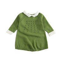Fashion Baby Girl Clothes Autumn Winter Knitted Baby Rompers Long Sleeves Toddler Jumpsuits