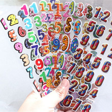 Cute Stickers Puffy Stickers Children DIY Toys Girls/Boys Birthday Gift 5 Sheets/Set Mixed 3D Foam Bubble stickers Cartoon Kids(China)