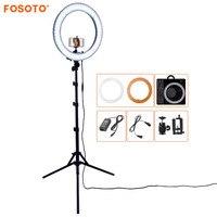 FOSOTO RL 18 55 Вт 5500 К 240 светодио дный фотографическое освещение камера с регулируемой яркостью фото/Studio/телефон фотографии кольцо свет лампы и ш