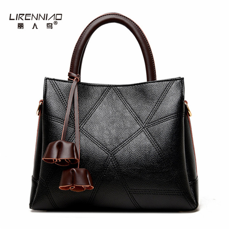 LIRENNIAO Bags Handbag Women Famous Brands Fashion Casual Tote High Quality Leather Shoulder Bag Large Capacity