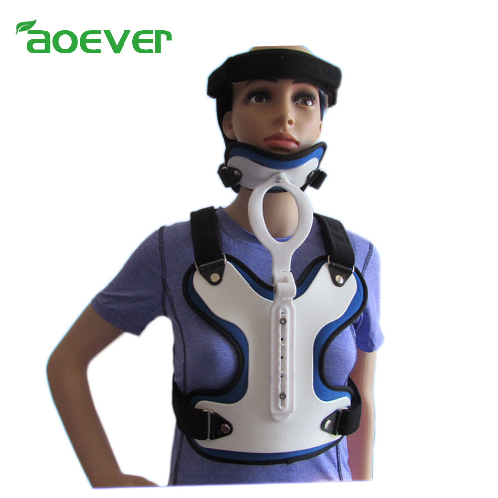 Professional Head Neck Thorax Chest Orthotics Fixed Support Adjustable Size For Cervical Spine Thoracic Vertebra Injury