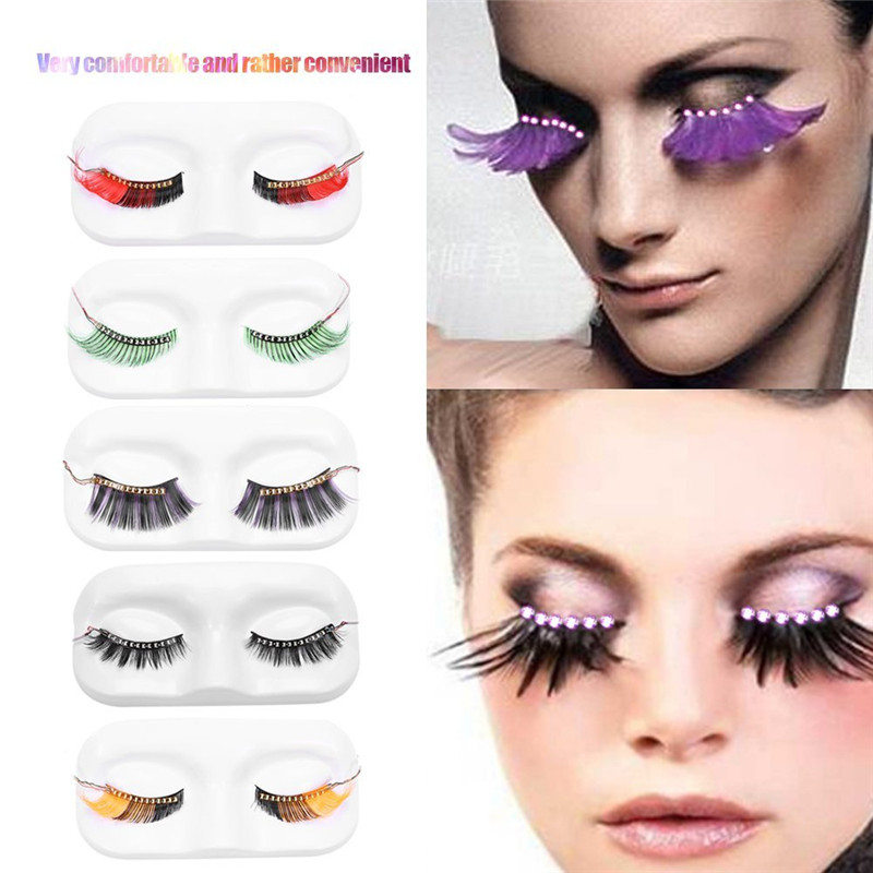 Oobest <font><b>LED</b></font> Luminous Eyelash Light Up Fashion False Eye <font><b>Lash</b></font> Lamp For Party Bar