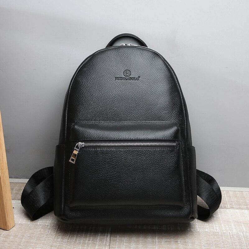 Bagaj ve Çantalar'ten Sırt Çantaları'de FEIDIKABOLO hakiki deri sırt çantası erkekler Laptop sırt çantası okul gençlik deri gençler için sırt çantaları erkekler rahat Daypacks mochila'da  Grup 2