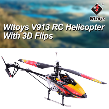 Original Wltoys V913 Brushless 2.4G 4CH Single Blade Built-in Gyro Super Stable Flight RC Helicopter RTF Aircraft RC Plane