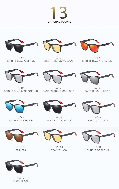 Polarized Sunglasses Men Women Vintage Sun Glasses Photochromic Discolor Sunglasses Driving 13 Colors 5