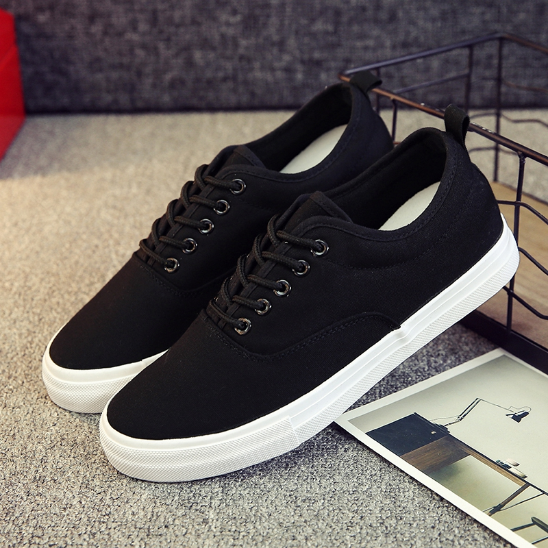 ZYYZYM Men Canvas Shoes Lace-Up Classic Style Breathable Fashion - Men's Shoes - Photo 4