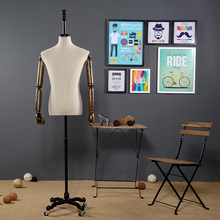 Quality male props cloth half-length model men's clothing photo props fabric mannequins