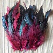 Дешево! 50 шт цветные красивые перья петуха 5-8 ''/12,5-20 см фазаньи Куриные перья красное вино