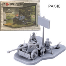 1:72 World War II PAK40 Anti Tank Gun / Rocket Launcher Free Glue Plugged Artillery Scene 180302 trumpeter 1 35 soviet 2s14 zhalo s 85mm anti tank gun 9536 09536 new release