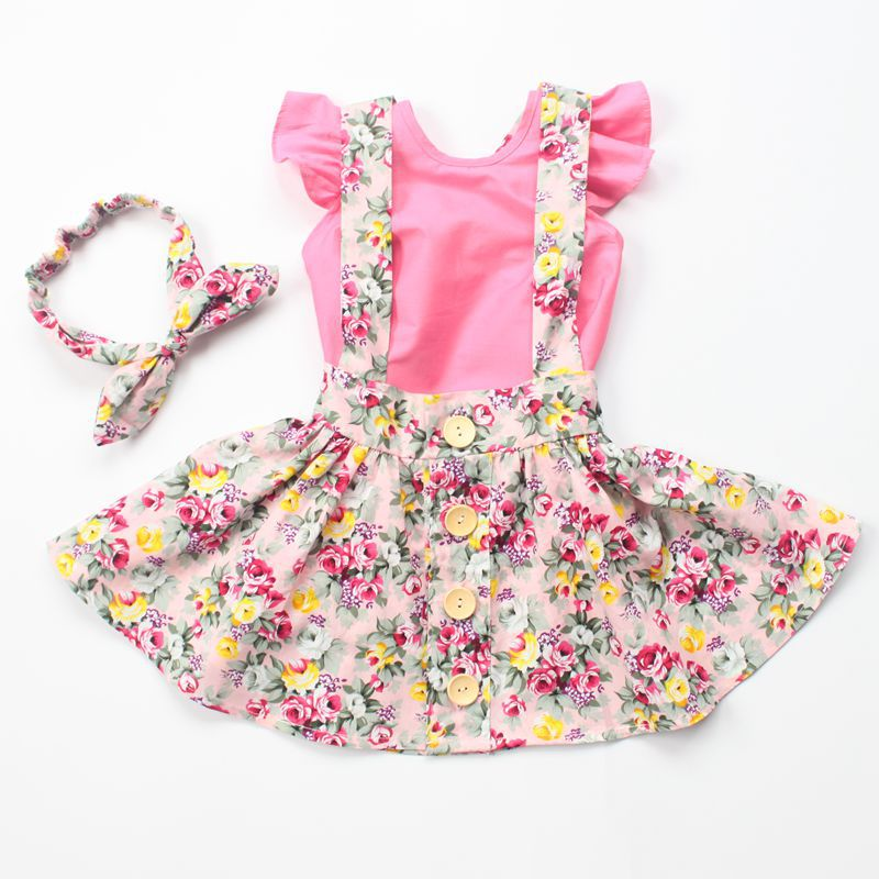 2016 New Style Baby Girls Fashion Dress Clothes Headband
