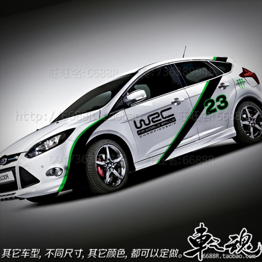 Car design sticker rally - Wrc Car Modification Whole Car Pull Flower Decoration Car Stickers Case For 2012 New Focus