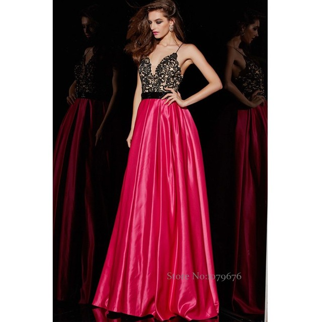Fashion Sexy Hot Pink Lace Long Evening Dress Open Back Women Formal Dresses  Special Occasion Prom Party Gowns China Online 3669b0a471fb