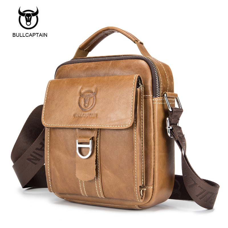 Men Casual Cow Genuine Leather Men Handbags Shoulder Bag Crossbody Retro Men Messenger Bag For Male Retro Briefcase Brand Design