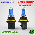 2 x HB5 9007 blanco estupendo 12 V 100 / 80 W halógena coche automotrices bombillas faros Dark Blue Glass