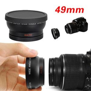 "Image 1 - 49 מ""מ 0.45X זווית רחבה מאקרו Fisheye עדשת צילום סופר מאקרו עבור Canon NIKON Sony PENTAX המצלמה SLR DSLR 49 מ""מ חוט עדשה"