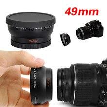 49mm 0.45X Macro Super Grande Angular Olho de Peixe Lente Macro fotografia para Canon NIKON Sony PENTAX DSLR SLR Camera 49 MM rosca lente