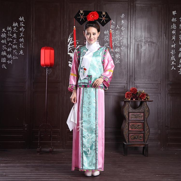 (0107) broderie femme Qing dynastie princesse Costume femmes ancienne robe de cour pour cosplay scène performance