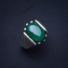 Natural Malachite Handmade Unique 925 Sterling Silver Ring 6.75 B1006 natural pink opal handmade unique 925 sterling silver ring 6 25 y4391