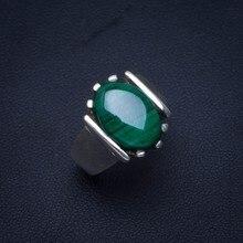 Natural Malachite Handmade Unique 925 Sterling Silver Ring 6.75 B1006 стоимость