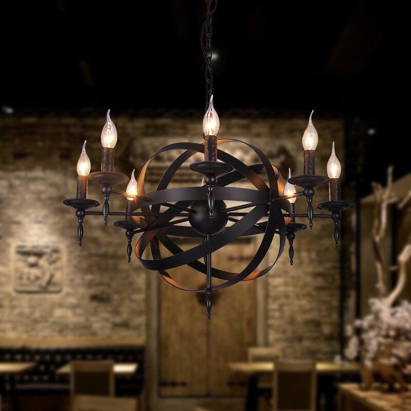 Industrielle Vintage pendentif corde Lumières pendentif rétro Lampe lamparas colgantes luminaire suspendu pour Salle À Manger éclairage fixtur