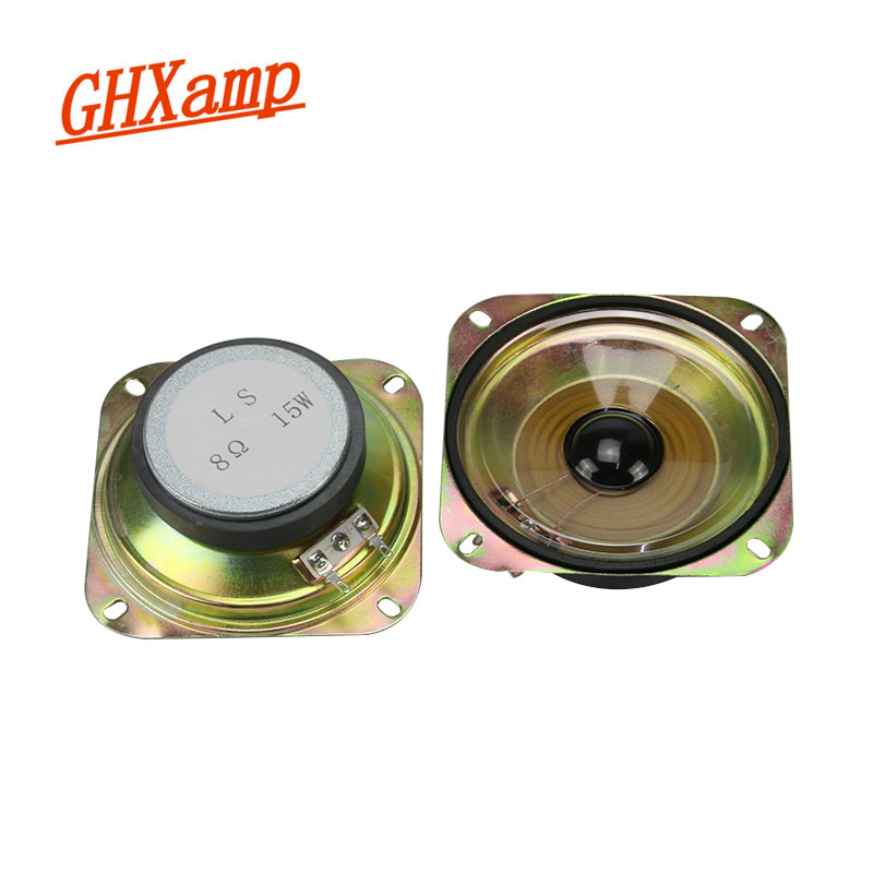 GHXAMP 4 INCH Car Tweeter <font><b>Speaker</b></font> Waterproof <font><b>Speaker</b></font> <font><b>8OHM</b></font> <font><b>15W</b></font> TREBLE Square High frequency loudspeakers For Car Whistle 1Pairs image