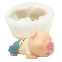 6 inch snot pig Cake Tool baking silicone mold hightemperature DIY chocolate cake decoration fondant Epoxy silicone mold A083