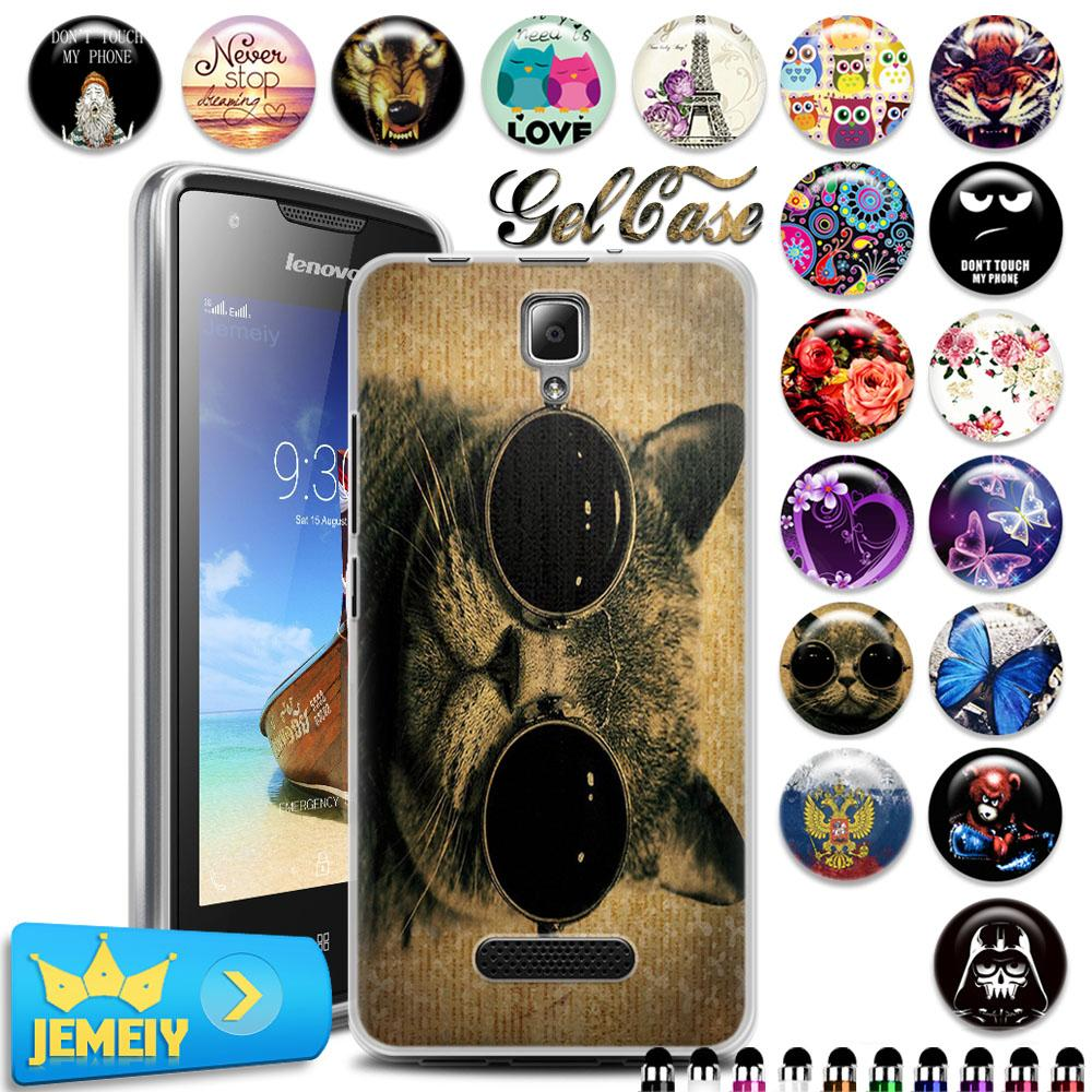 For Lenovo Series A1000 A 1000 Vibe S1 Vibe P1M A2010 K3 Note S90 A5000 S60 UV Gel Bag Back Cover Silicon Case Tempered Glass