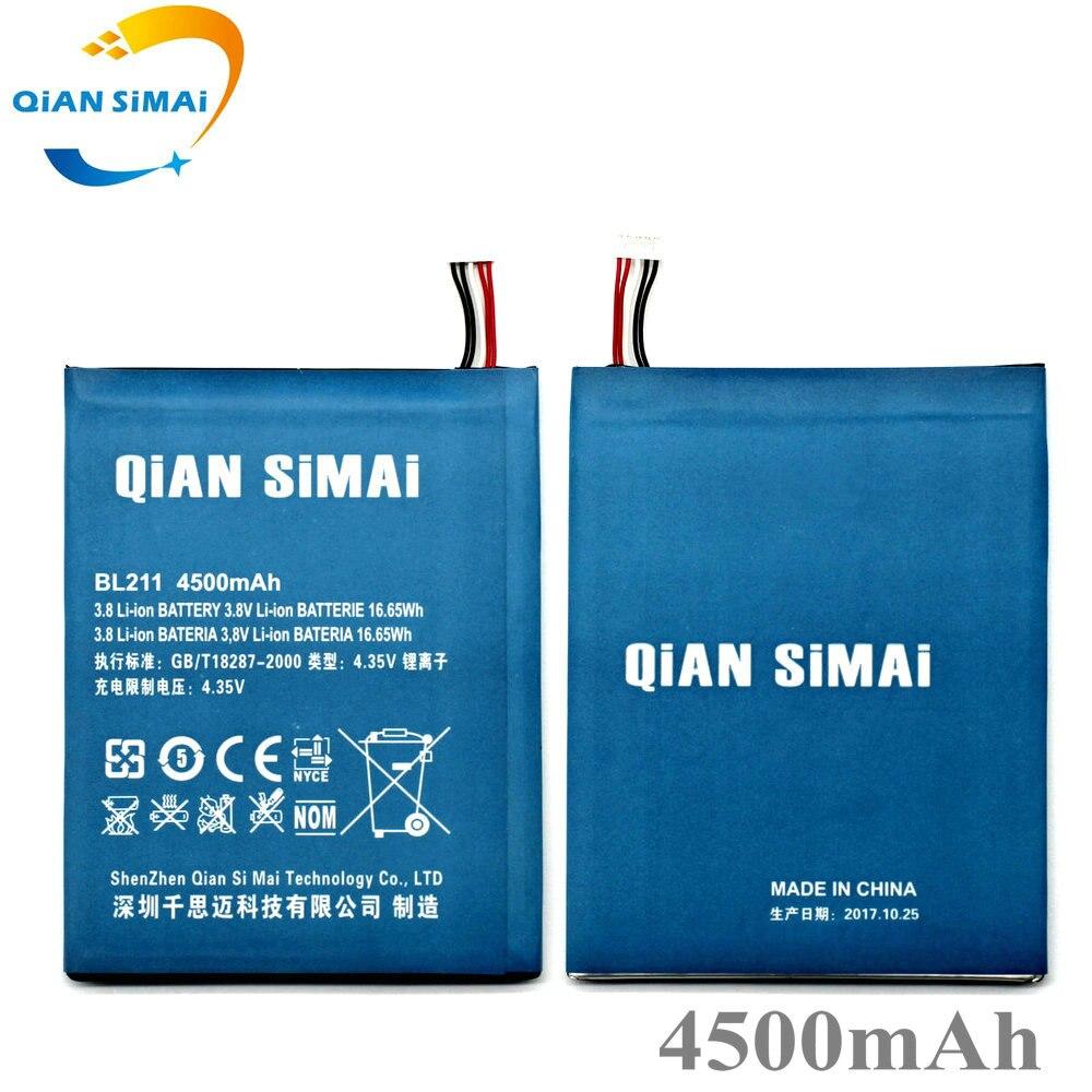QiAN SiMAi Nouveau BL211 BL 211 4500 mah Batterie pour Lenovo P780 mobile téléphone batterie de remplacement + Numéro de Suivi