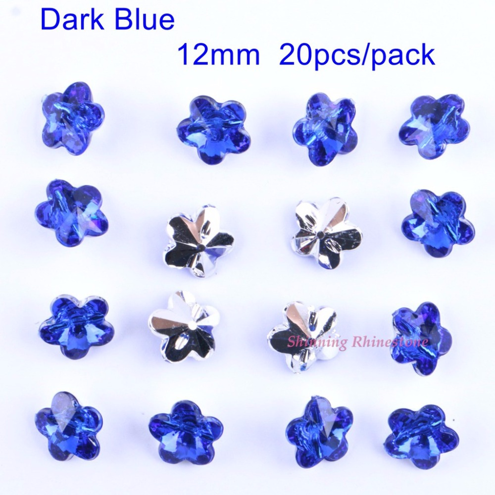 12mm Sew On Buttons Sewing Plum Flower Buttton Sew On Scrapbooking DIY Crafts Garment Beads 20pcs/pack ...