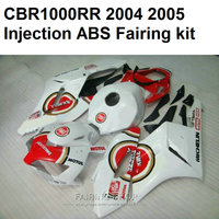 For Honda Cbr 1000rr 2004 2005 White Red Lucky Fairings Cbr 1000 Rr 04 05 Low