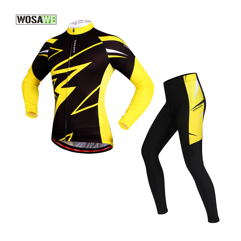 WOSAWE Cycling Clothing Mountain Bike Downhill Jersey Set Ropa Equipacion Ciclismo 2017 Full Long Sleeve Men Bicycle Sets S-XXL  santic cycling men s downhill ridet shirt long jersey long sleeve white