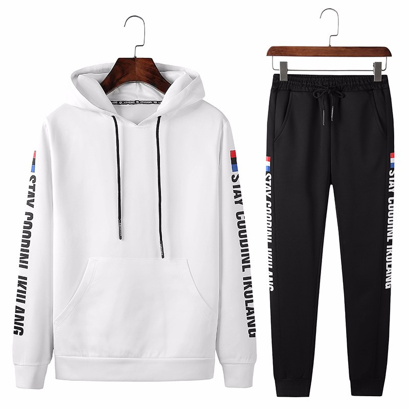 New Fahion Spring Autumn Sportswear Fitness Tracksuit Men Hoodies Sets Casual Mens Clothing 2 PC Sweatshirt+SweatPants Outwear
