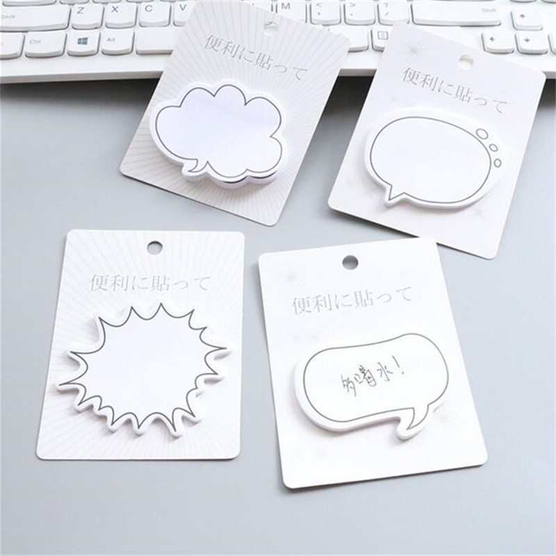 PROMSPLAND Chat Bubble Schedule Marker Sticky Notes Self-Adhesive Memo Pad Daily Notepads School Supplies Bookmark Post it Label